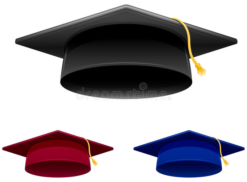 Capuchon de graduation illustration de vecteur