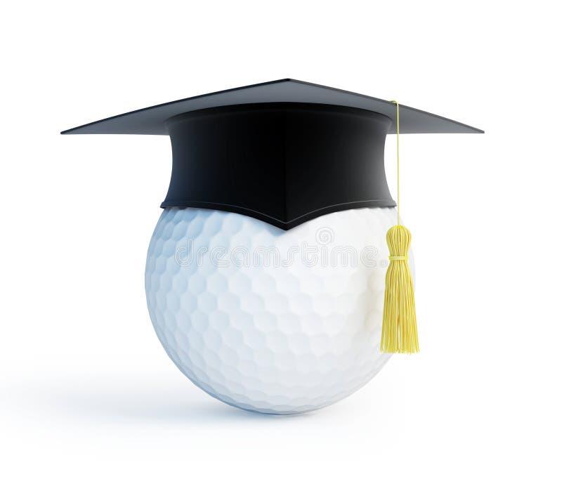 Capuchon de graduation d'école de golf illustration de vecteur