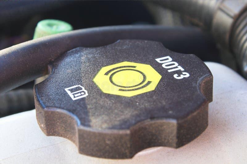 Capuchon de liquide des freins  photo libre de droits