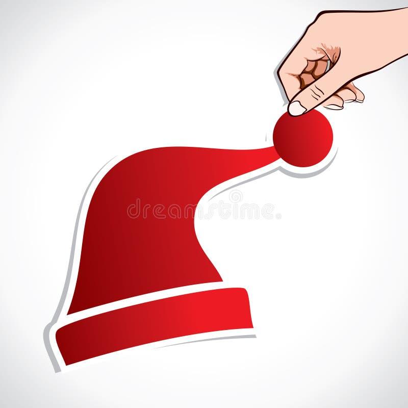 Capuchon rouge de Noël à disposition illustration de vecteur