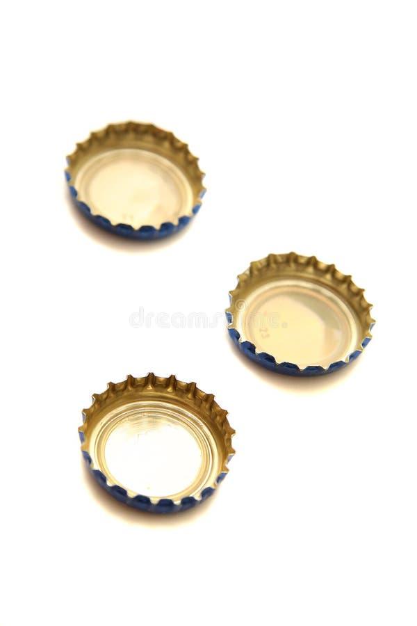 Capuchons de bière images libres de droits