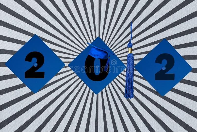 Capuchons de graduation pour 2012 illustration de vecteur