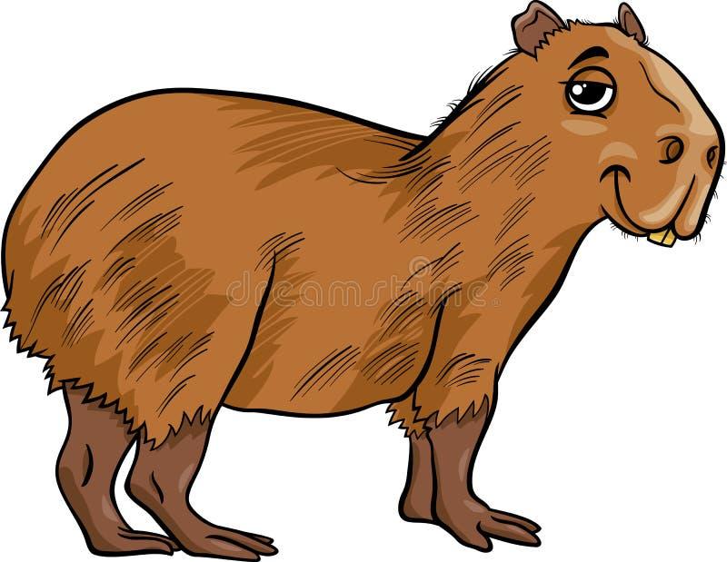 Capybaratierkarikaturillustration lizenzfreie abbildung