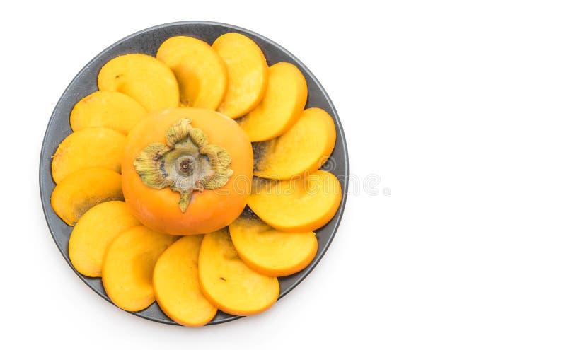 caqui fresco cortado imagen de archivo libre de regalías