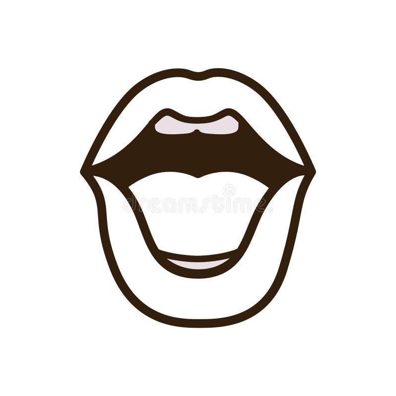 Carácter abierto del avatar de los labios libre illustration