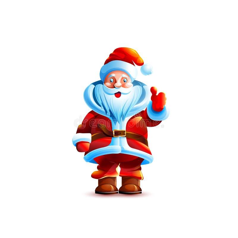 Carácter aislado ejemplo Papá Noel ilustración del vector