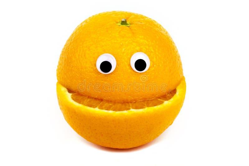Carácter anaranjado foto de archivo libre de regalías