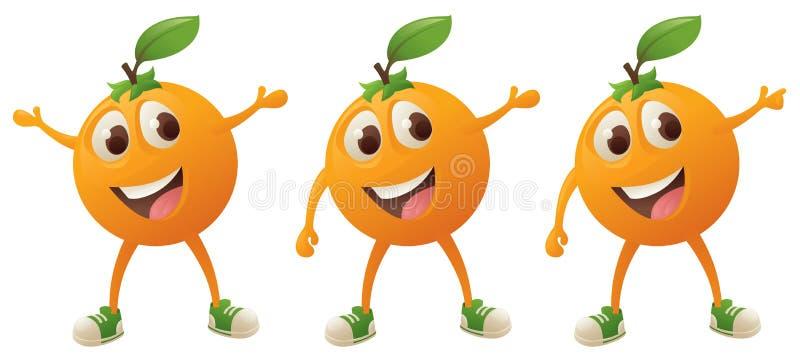 Carácter anaranjado stock de ilustración