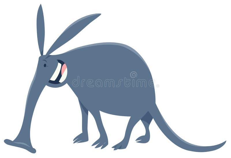Carácter animal de la historieta divertida del cerdo hormiguero stock de ilustración
