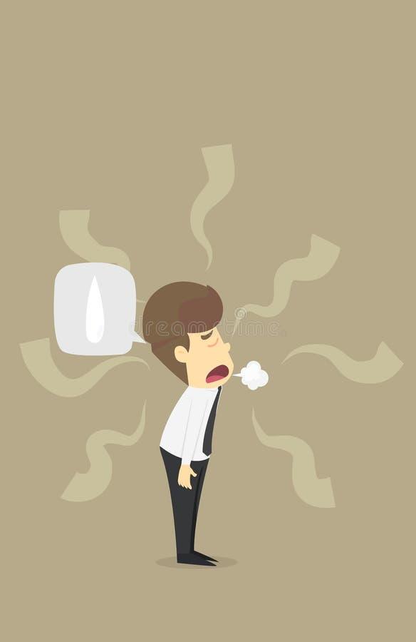 Carácter cansado de Walk Sad Tired del hombre de negocios Ilustración del vector ilustración del vector