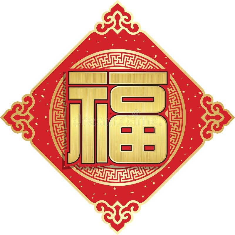 Carácter chino para la buena fortuna - Fu libre illustration
