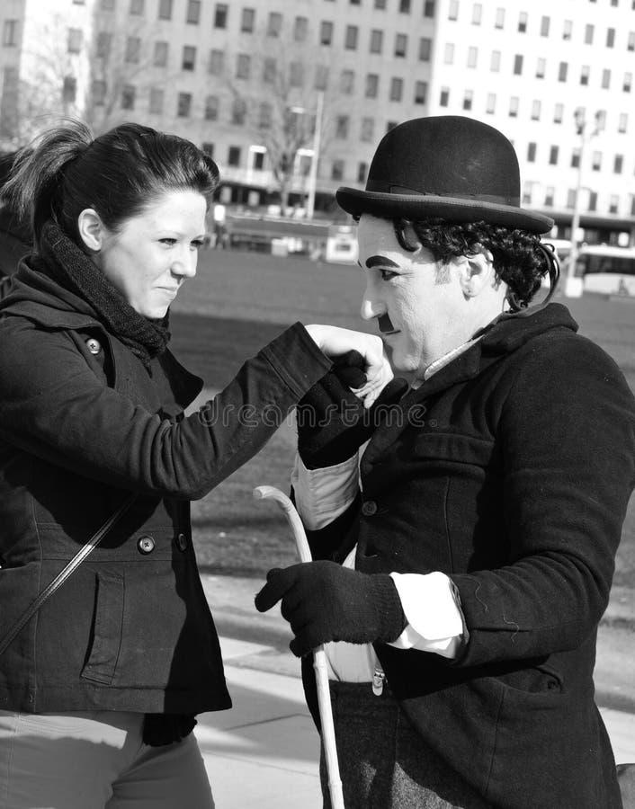 Carácter de Chaplin imagen de archivo
