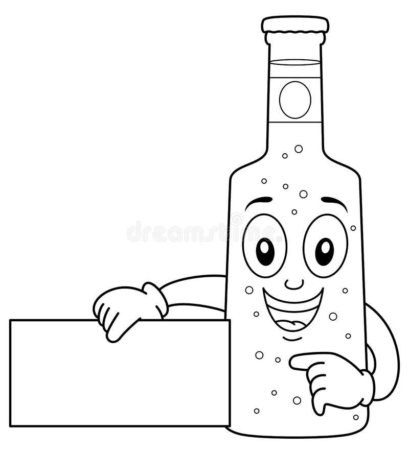 Carácter de cristal feliz de la botella de cerveza que colorea libre illustration