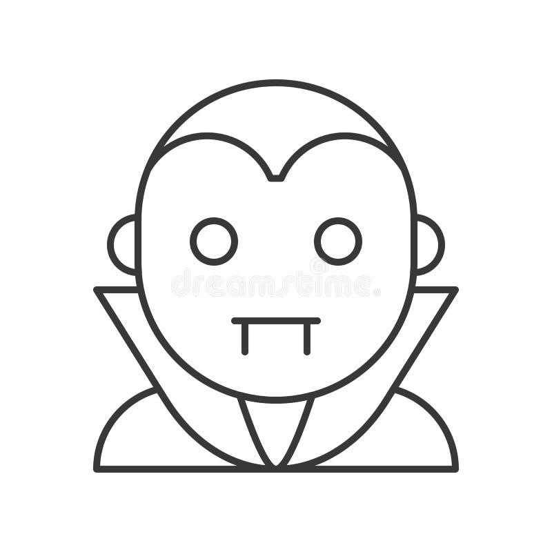Carácter de Drácula de la cuenta, movimiento editable del icono de Halloween ilustración del vector