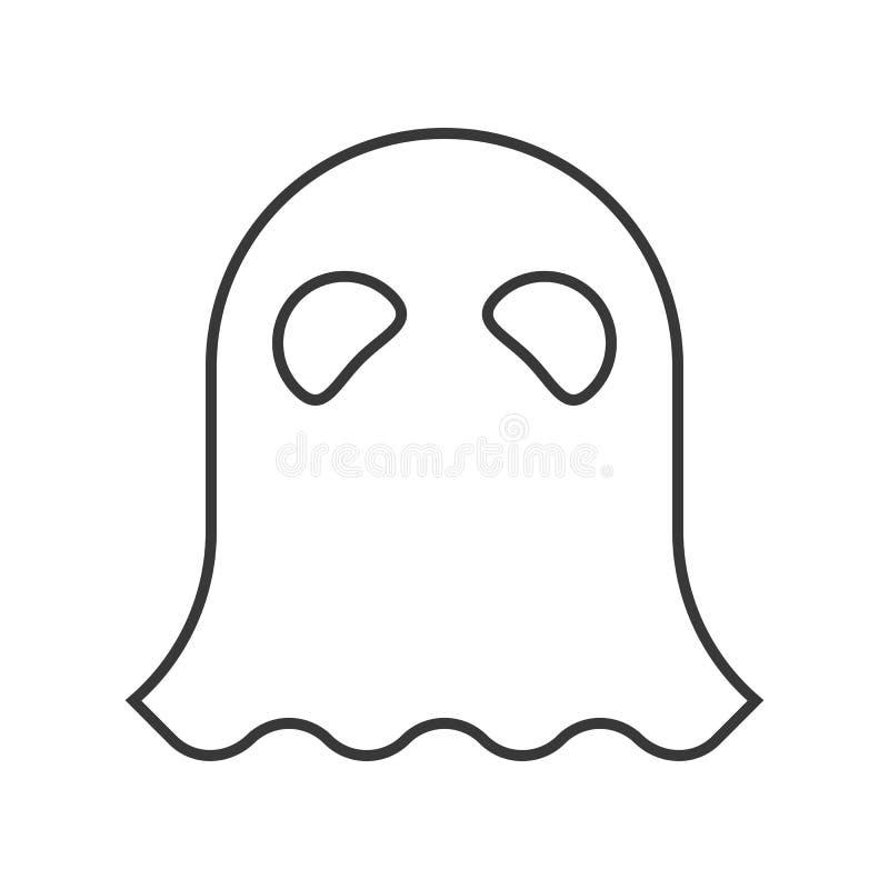 Carácter de Halloween, icono del carácter del fantasma del refugio, movimiento editable stock de ilustración