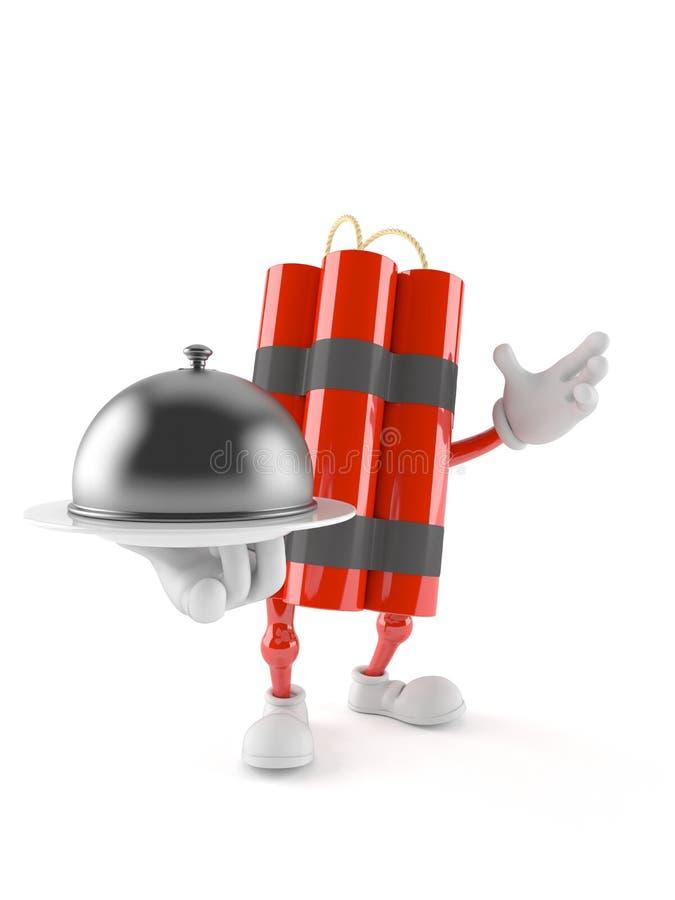 Carácter de la dinamita que sostiene una bóveda del abastecimiento libre illustration