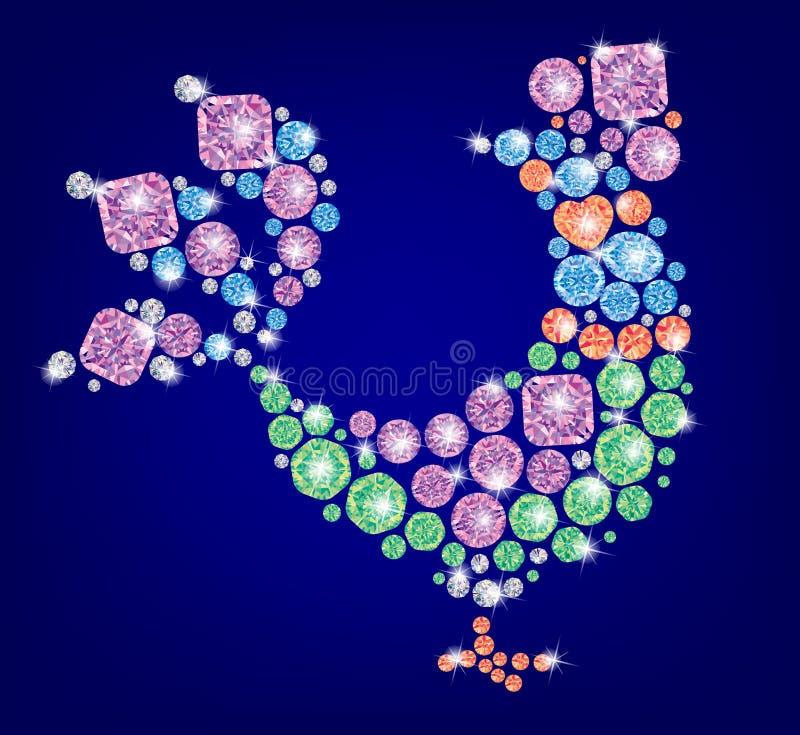 Carácter de la Navidad del gallo libre illustration
