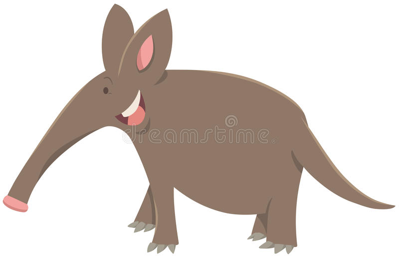 Carácter del animal del cerdo hormiguero de la historieta stock de ilustración