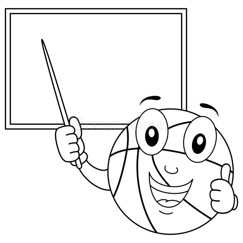 Carácter del baloncesto del colorante con el tablero libre illustration