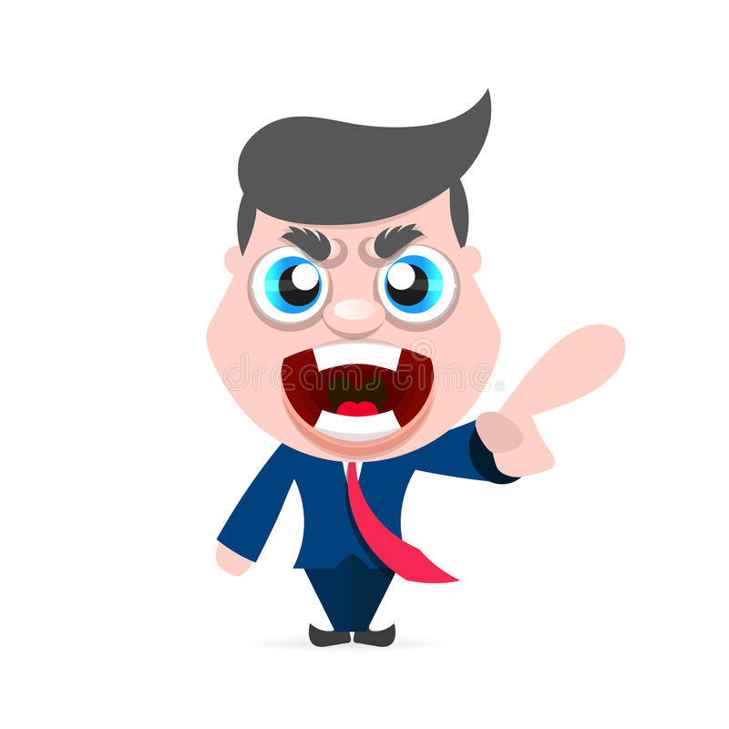 Carácter del hombre de Boss libre illustration