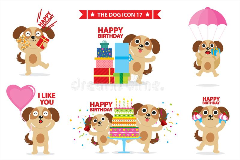 Carácter del icono del perro libre illustration