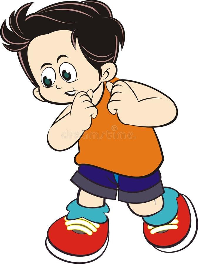 Carácter del niño imagen de archivo libre de regalías