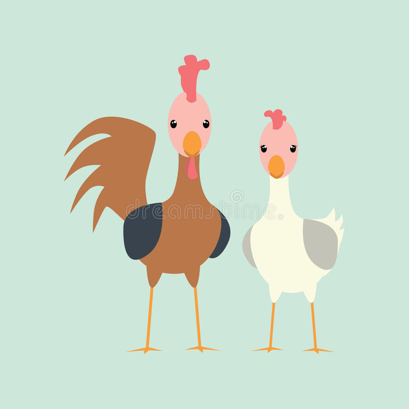Carácter del pollo libre illustration