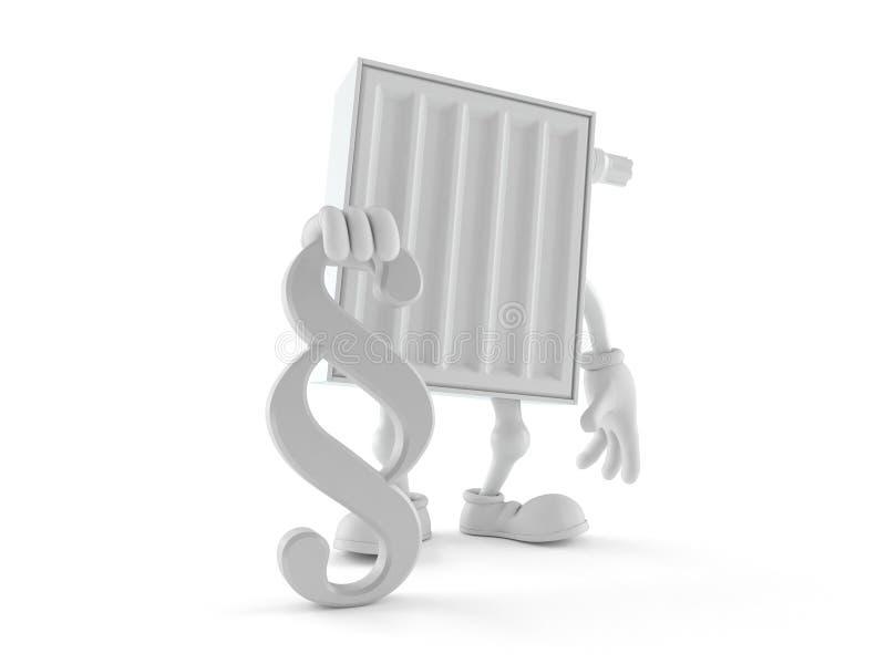 Carácter del radiador con símbolo del párrafo libre illustration
