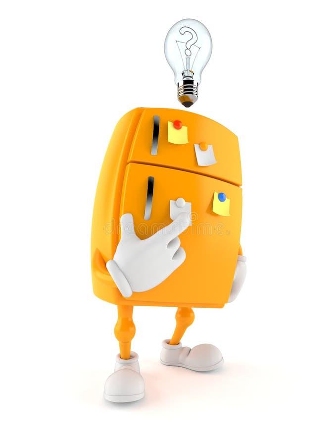 Carácter del refrigerador con una idea stock de ilustración