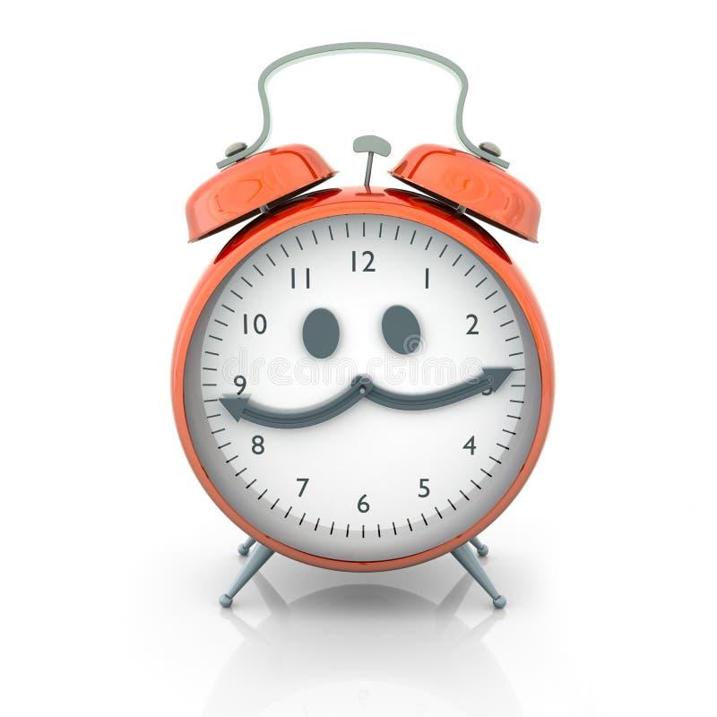 Carácter del reloj de alarma stock de ilustración