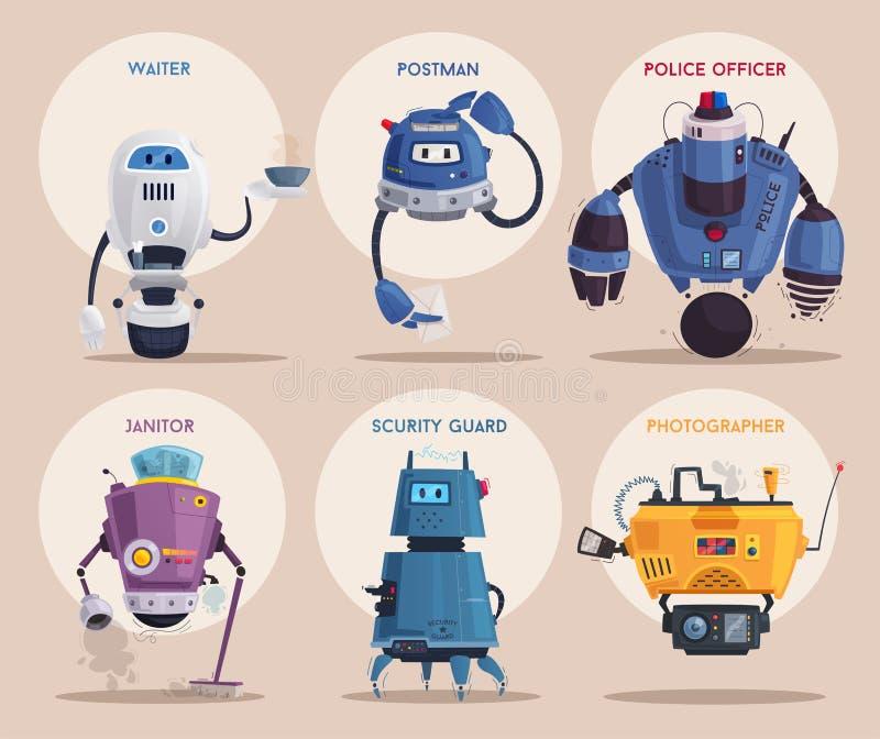 Carácter del robot Tecnología, futuro Ilustración del vector de la historieta libre illustration