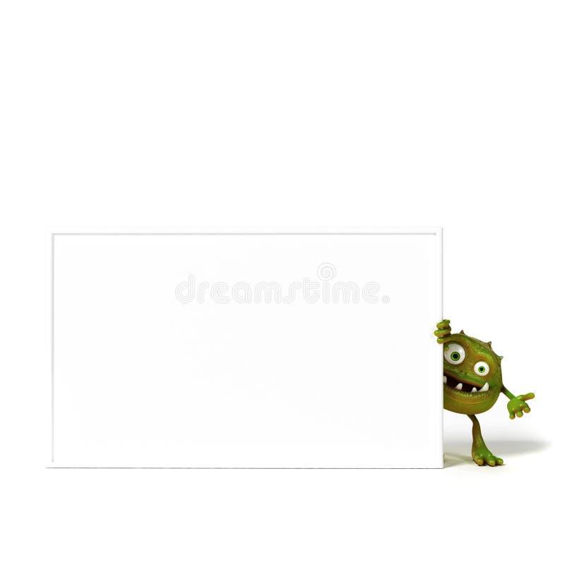 Carácter divertido de Toon de las bacterias stock de ilustración