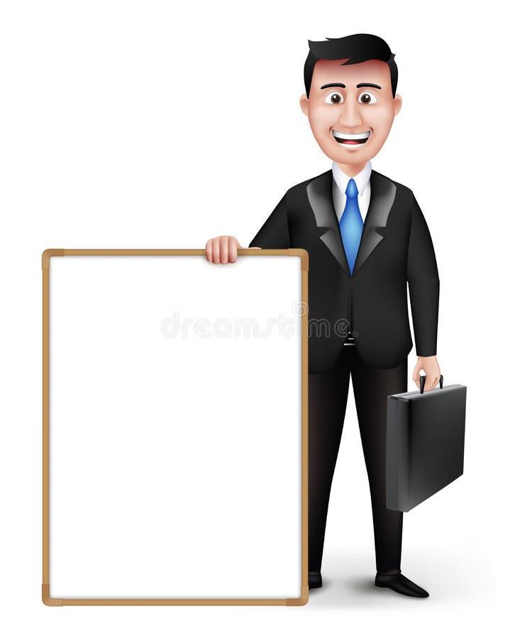Carácter elegante realista del profesor o del hombre de negocios libre illustration