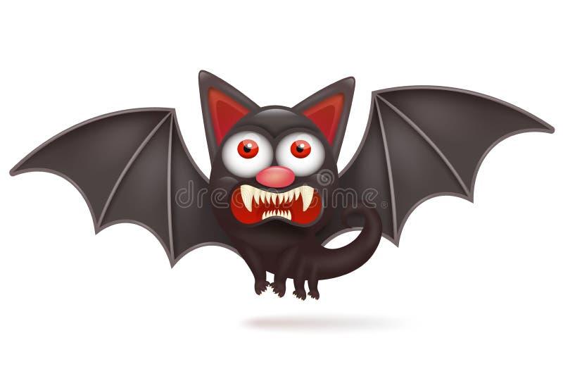 Carácter enojado del palo de Halloween de la historieta divertida stock de ilustración