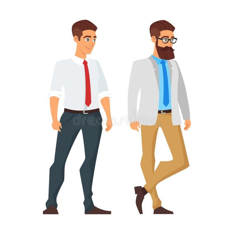 carácter feliz del hombre de negocios libre illustration