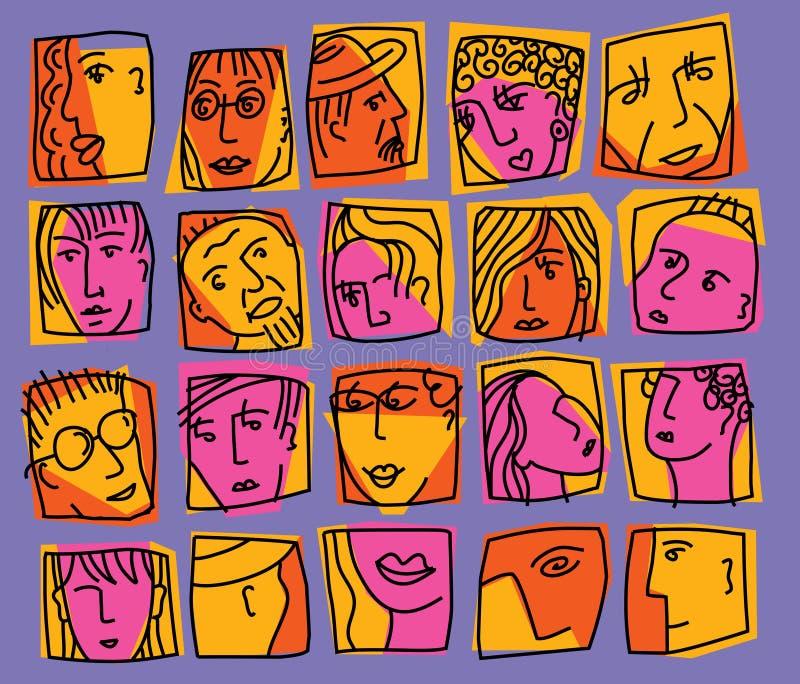 Carácter-líneas libre illustration