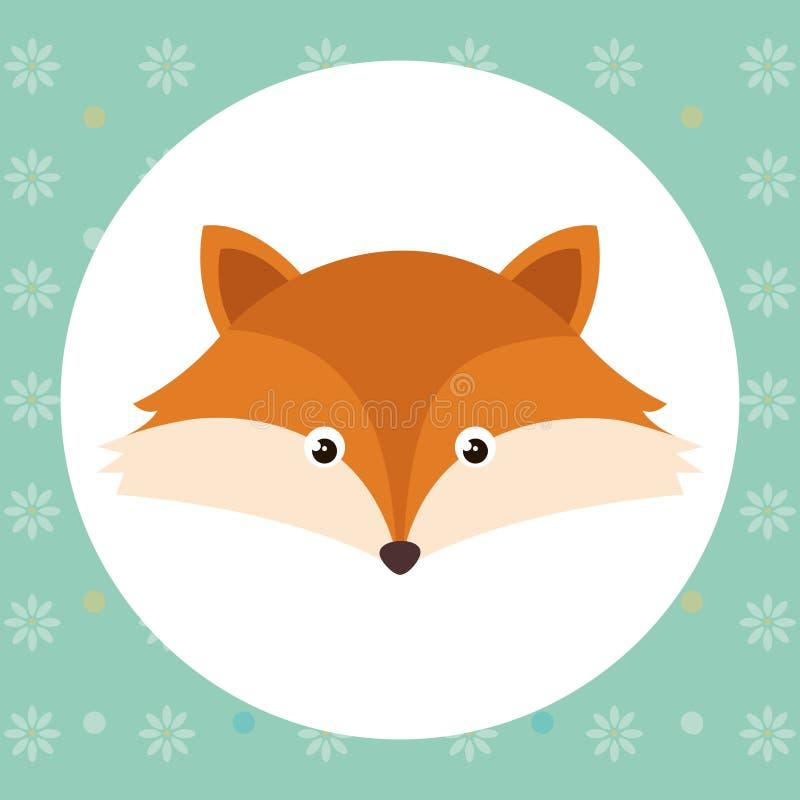 Carácter lindo de la oferta de la cabeza del zorro libre illustration