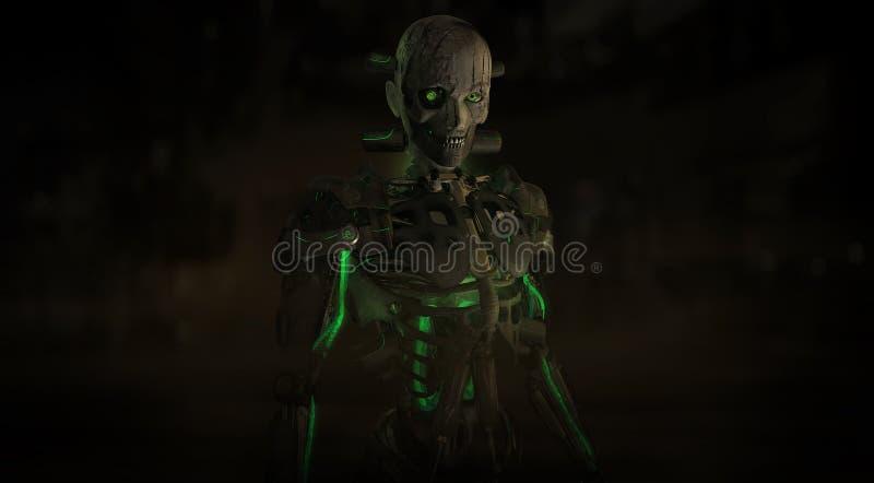 Carácter malvado del cyborg libre illustration