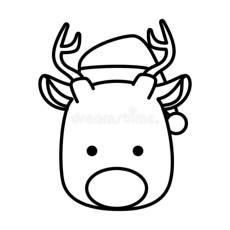 Carácter principal de la Navidad del reno lindo libre illustration