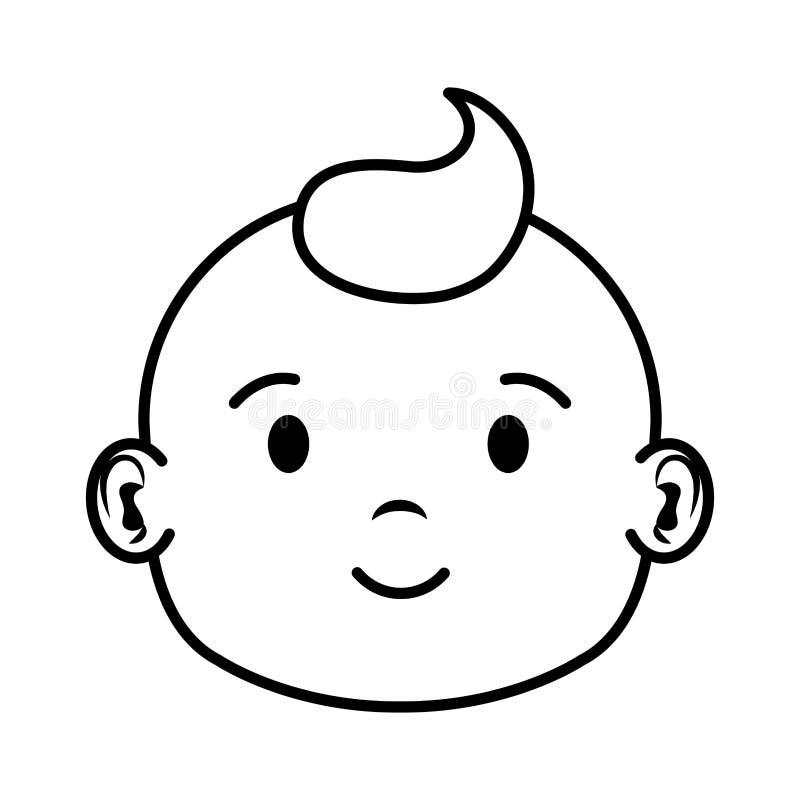 Carácter principal lindo y del niño pequeño del bebé libre illustration
