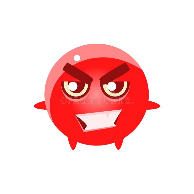 Carácter redondo sonriente Emoji del malo libre illustration