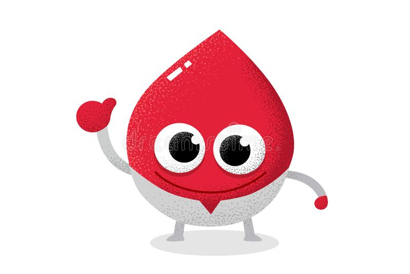 Carácter rojo de la sangre que actúa como doctor Gota de sangre libre illustration