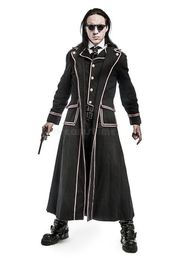 Carácter victoriano del traje de Steampunk foto de archivo