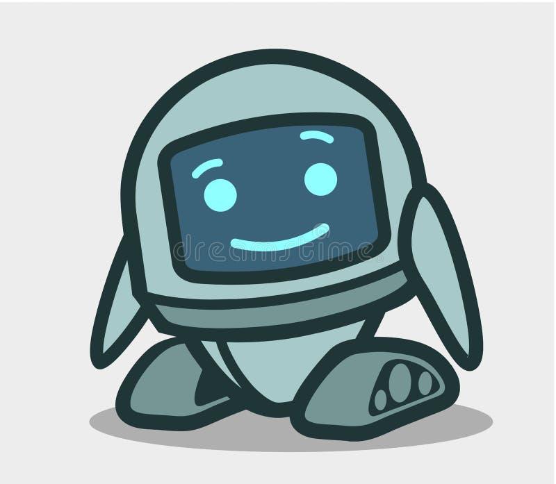Caráter animado do robô bonito para o projeto ilustração stock