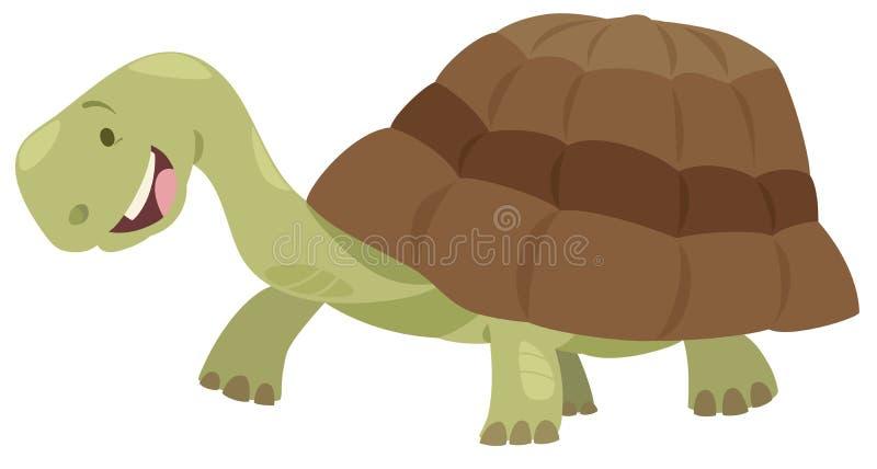 Caráter bonito do animal da tartaruga ilustração do vetor