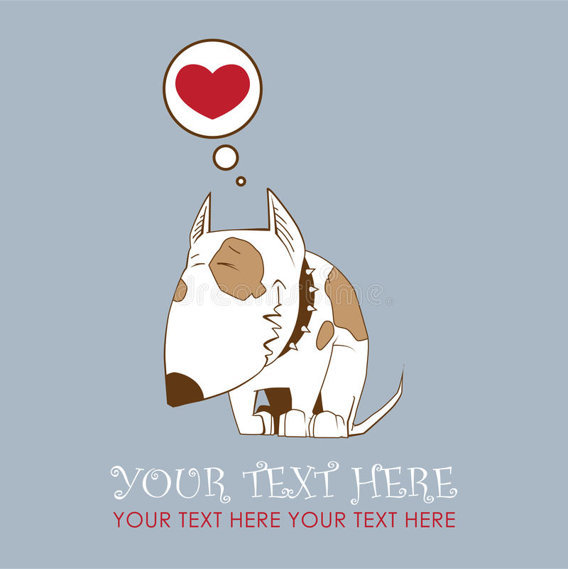 Caráter bonito do cão ilustração royalty free
