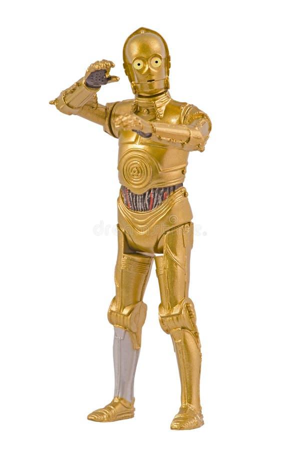 Caráter C-3PO de Star Wars fotografia de stock