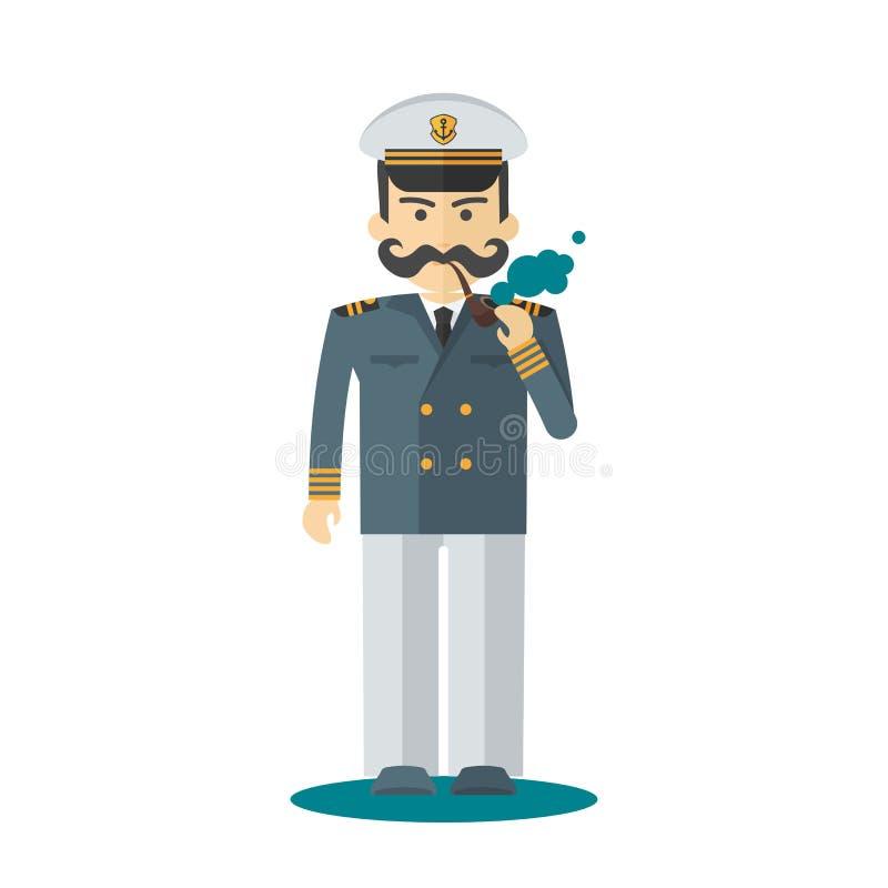 Caráter capitan dos carneiros ilustração stock