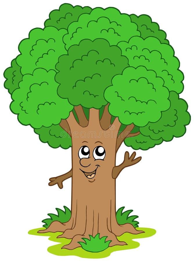 Caráter da árvore dos desenhos animados ilustração stock
