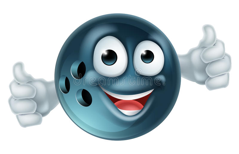 Caráter da bola de boliches dos desenhos animados ilustração do vetor